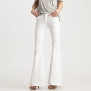 7 for All Mankind Bell Bottom White jeans